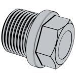 DIN 910-2010 帶肩的外六角螺旋塞.重載圓柱螺紋 (L型)