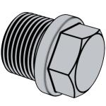 DIN 910-2012 带肩的外六角螺旋塞.重载圆柱螺纹 (标准型)