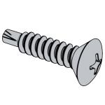 DIN (R)7504-1995 十字槽半沉頭鉆尾自攻釘