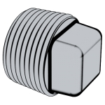 QC 614 方头锥形螺塞(NPT螺纹)