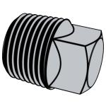 B16.14-2013 钢铁管螺纹管堵、内外螺丝和锁紧螺母 —— 方头管堵