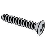 DIN 7983-1990 十字槽半沉頭自攻釘