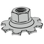 SJ 2843-1987 六角带梅花弹性垫圈的组合螺母