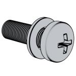 GB /T9074.1-1988 十字槽盘头螺钉和平垫圈组合