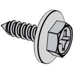 GB /T9074.21-1988 十字槽凹穴六角头自攻螺钉和大平垫组合