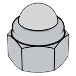 DIN 986-1987 非金屬嵌件六角蓋形螺母