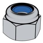 GB /T889.1-2015 1型非金屬嵌件六角鎖緊螺母