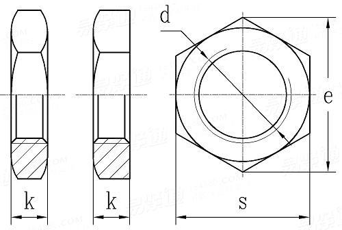 非金属六角锁紧螺母_GB808六角薄螺母 六角扁螺母_产品展示_嘉兴千众紧固件有限公司